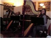 La harpe avec Mme Da Silva