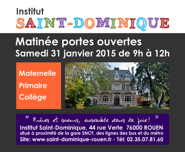 Journée portes ouverte Saint Dominique