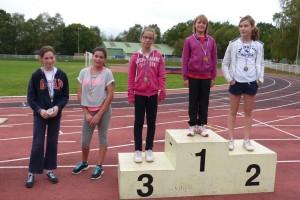 podium 5èmes filles