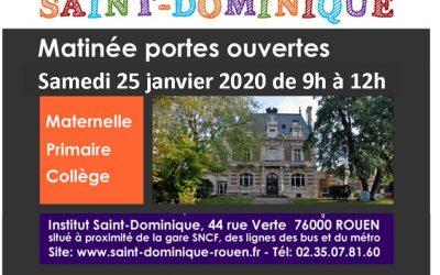 Portes Ouvertes de Saint-Dominique ! 25 Janvier 2020