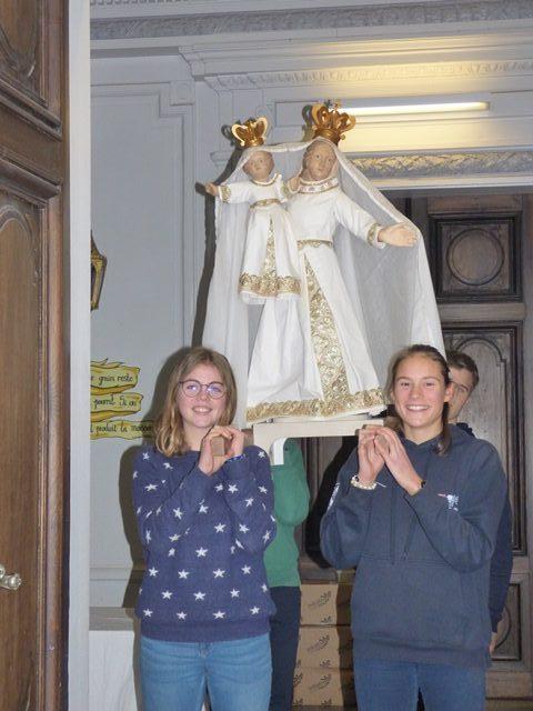 Accueil à St-Do de la Vierge Pèlerine de Notre-Dame de Bonsecours
