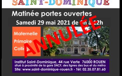 ANNULATION Portes Ouvertes de St-Dominique